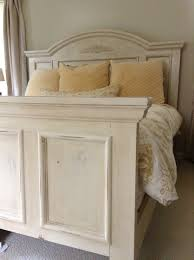 chalk paint bedroom furnitureBed painted with Annie Sloan old ocre chalk paint distressed and