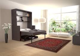 Bedroom:Great Murphy Bed Design With Slide Iron Frame Also Cream Bedroom  Painted Wall Elegant