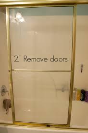 Glass Door Glass Bathtub Shower Doors Clean Bathroom For Removing