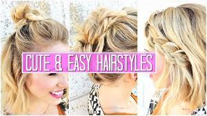 Hair Style For Medium Hair 3 easy hairstyles for short medium hair tutorial cute girls 1328 by wearticles.com