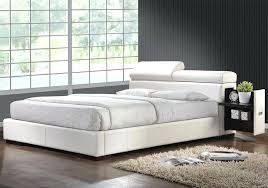 white leather platform bed white leather platform bed white leather platform bed king