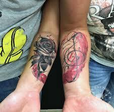 парная тату акварел сделано в Inkfactory