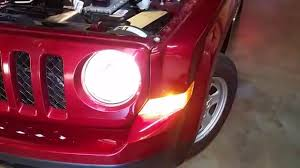 2007 2016 jeep patriot test headlights after change light bulbs low high beam turn signal