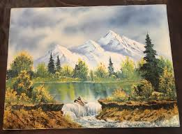 my sister got me an original signed bob ross painting for my birthday