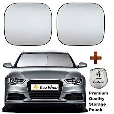 Econour Premium Car Windshield Sunshade With Easy Read Size Chart Universal Fit For Car Suv Van Truck 210t Nylon Material Heat And Sun Reflector