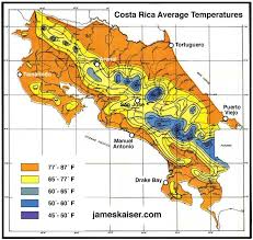 Costa Rica Climate Chart Costa Rica Weather Patterns Pacific Caribbean Coasts