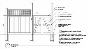 Wood Wood Fence Drawing Fence Gate Nstruction Details Plans Diy