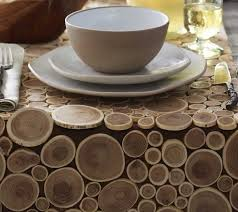 reclaimed teak branch table runner placemats and coasters the round coffee m