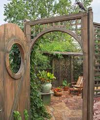 secret garden on urban plot beer garden