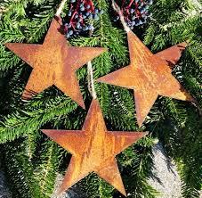 3 Sterne Im Set Anhänger Christbaumschmuck Rusty Passion