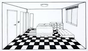Marvelous Homework  One  Point Perspective Room Drawing   Ms Changu0027s Art Classes