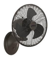 fanimation portbrook wall mounted fans black color with 3 blade fan