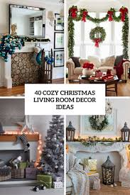 Of Living Rooms Decorated For Christmas 40 Cozy Christmas Living Room Daccor Ideas Shelterness