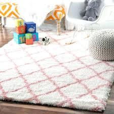 grey pink rug and soft plush cloudy trellis kids nursery baby 4 yellow
