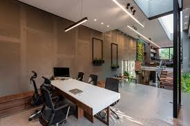 Image Modern Style For The Architect Duos Young Daughter Who Often Drops Into Their Office After School And Up To Landing Leading To The Principals Area with Its Pinterest The Architects Own Office Portico Design Concepts The