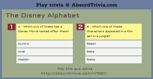 Though often called phonetic alphabets, spelling alphabets have no connection to phonetic the alphabet's common name (nato phonetic alphabet) arose because it appears in allied tactical. Trivia Quiz The Disney Alphabet