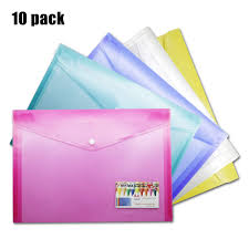 Size Of Envelopes Umriox A4 Plastic Wallets Poly Envelopes 10 Pack Clear Document Folders Us Letter Size File Envelopes With Snap Button Label Pocket For School Home