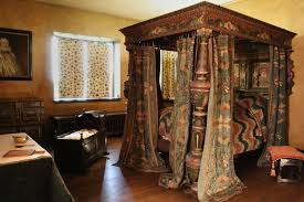 Medieval Bedroom The Painted Bedstead At Agecroft Hall In Richmond Va Agecroft