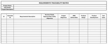requirements traceability matrix templates requirements traceability matrix template crescentcollege