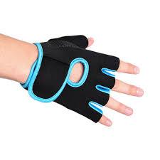 Fitness Gloves, Straps & Hooks <b>Half Finger Exercise</b> Gym Gloves ...
