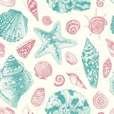 Coquillage Dessin Summer Sea Shells Concept Vecteur De Fond Avec