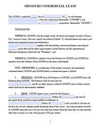 Free Missouri Commercial Lease Agreement | Pdf | Word (.doc)