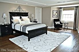 bedroom staging. Bedroom Staging Contemporary Master With Ultimate Cream Beige Shag Area Rug Crystal Bedside Lamp For Sale