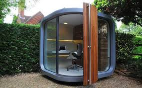 compact office design. Backyard Home Office Compact Design