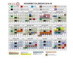 2019 17 Academic Calendar Zoro Braggs Co