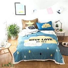 blue quilts bedding new cartoon printed blue quilts cotton summer duvets thin blankets bedspreads comforters quilted blue quilts bedding