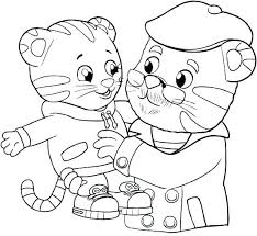 Daniel Tiger Coloring Pages Printable Tiger Coloring Pages Tiger And