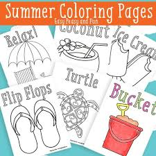 summer coloring free printable easy
