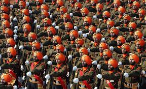 n army   iers of the sikh light infantry during a republic day parade
