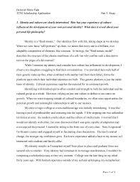 tcnj scholarship main essay deborah marie fade tcnj scholarship application part 3 essay page 1 of 3 1