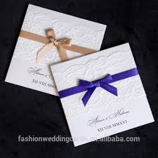 Elegant Invitation Cards Exclusive Custom Lace Simple Elegant Ribbon Bow Wedding Invitation Buy Lace Wedding Invitation Cards Ribbon Bow Wedding Invitation Simple Elegant