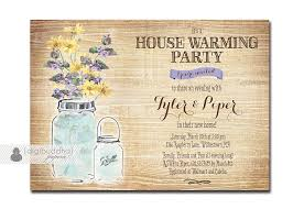 Mason Jar Housewarming Invitation Rustic Wood Watercolor Wildflowers House  Warming Party FREE PRIORITY SHIPPING or DiY Printable - Piper