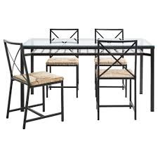 Glass Dining Table Set 4 Chairs Grans Table And 4 Chairs Ikea