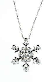 mother daughter necklace tiffany vintage snowflake diamond pendant sold child