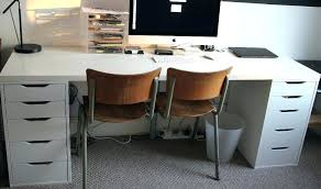 white ikea computer desk white desk long white desk with two drawer units in hull east