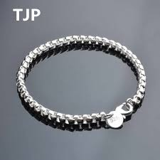 <b>TJP</b> 6MM Hot Men Bangles Accessories Fashion Silver 925 ...