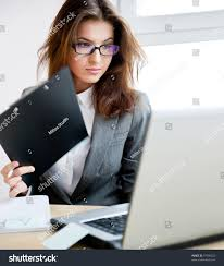hot office pic. Adult Young Pretty Business Woman Working At Her Office. She Is Very Busy And Hot Office Pic