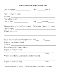 Incident Statement Report Template