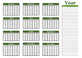 calendars with notes free yearly blank calendar template printable blank yearly calendars