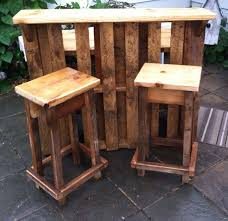rustic outdoor bar stool