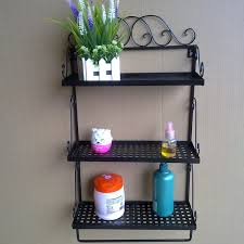 wrought iron bathroom shelf. Bathroom Wall Shelves Wrought Iron Craft Towel Rack Countryside Shelf R