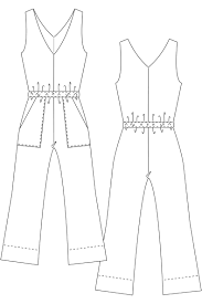 Jumpsuit Pattern Awesome Learn How To Sew A Summer Jumpsuit Sewing Pattern Carla Jumpsuit