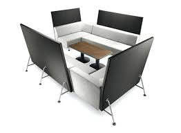 large image for lounge chair desk combo with arm system grey cat built in