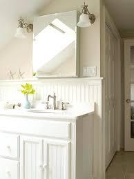 Beadboard Bathroom Walls Cabinets And Ceiling