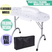 dels about mobile manicure nail table station desk spa beauty salon equipment w pattern