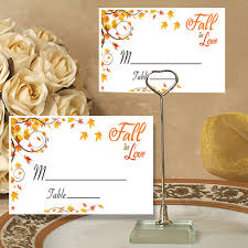 Fall Place Cards Fall Place Cards With Holders